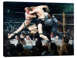 Canvas  Stag at Sharkey's - George Wesley Bellows