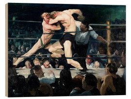 Wood print  Stag at Sharkey's - George Wesley Bellows
