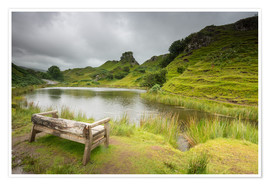 Premium poster The Fairy Glen on Isle of Skye, Scotland