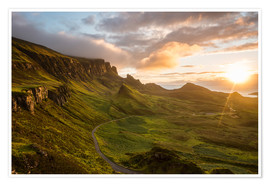 Premium poster The Quiraing, Isle of Skye, Scotland