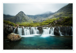 Premium poster The Fairy Pools, Glen Brittle, Skye, Scotland