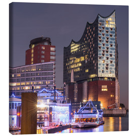 Canvas  Elbphilharmonie and Marina in Hamburg - Markus Ulrich