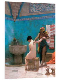 Foam board print  The Bath - Jean Leon Gerome