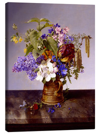 Canvas  Flowers - Johann Wilhelm Preyer