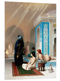 Foam board print  Bath in the harem - Jean Leon Gerome