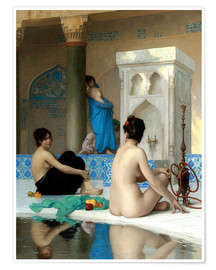 Poster  After the bath - Jean Leon Gerome