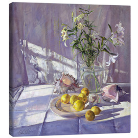 Canvas  Still Life Flowers and Lemons - Timothy Easton