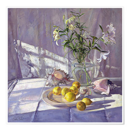 Premium poster Still Life Flowers and Lemons