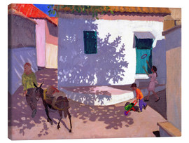 Canvas  Green Door and Shadows, Lesbos, 1996 - Andrew Macara