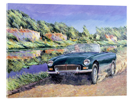 Acrylic print  MGB on a French channel - Clive Metcalfe