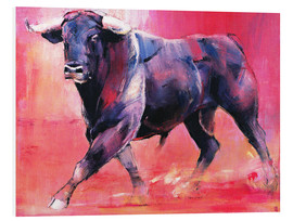 Foam board print  Trotting bull - Mark Adlington