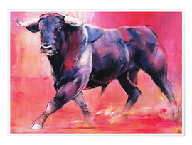 Premium poster  Trotting bull - Mark Adlington