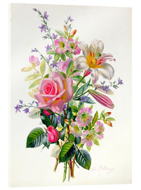 Acrylic print  A Pink Bouquet - Albert Williams