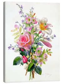 Canvas  A Pink Bouquet - Albert Williams