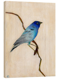 Wood print  Little Blue, 2012, - Nancy Moniz