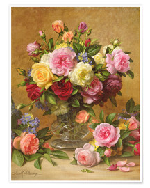 Premium poster  Victorian Roses - Albert Williams