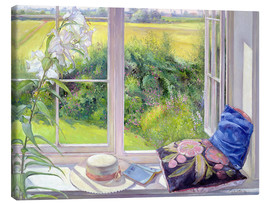 Canvas print  Reading window seat - Timothy Easton