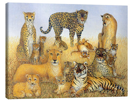 Canvas print  Various big cats - Pat Scott
