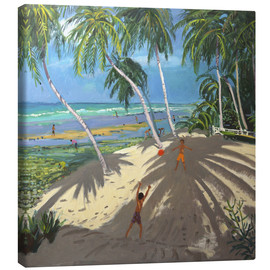 Canvas print  Palm trees, Clovelly beach, Barbados - Andrew Macara