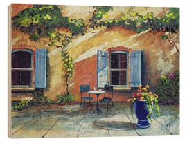 Wood print  Shutters, Provence, France, 1999 - Trevor Neal