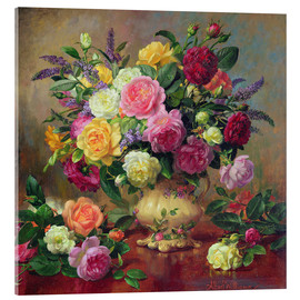 Acrylic print  Roses from a Victorian Garden - Albert Williams