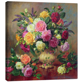 Canvas print  Roses from a Victorian Garden - Albert Williams