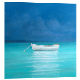 Acrylic glass  White boat, Kilifi 2012 - Lincoln Seligman