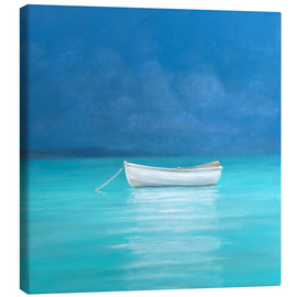 Canvas  White boat, Kilifi 2012 - Lincoln Seligman