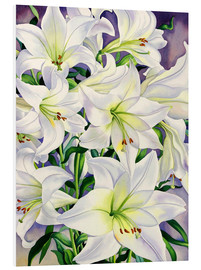 Foam board print  White lilies, 2008 - Christopher Ryland