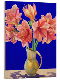Wood print  Amaryllis in a vase, 2007 - Christopher Ryland