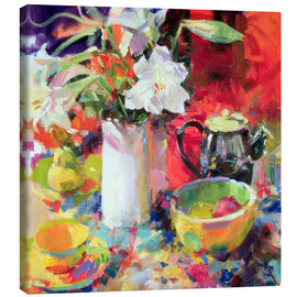 Canvas print  Lilies in summer, 2000 - Peter Graham