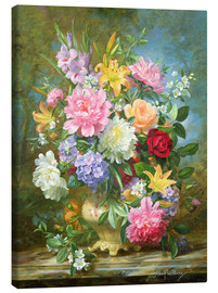 Canvas print  Peonies and mixed flowers - Albert Williams