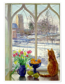 Premium poster  Snow Shadows and Cat - Timothy Easton