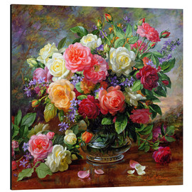 Aluminium print  Roses - the perfection of summer - Albert Williams