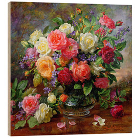 Wood print  Roses - the perfection of summer - Albert Williams