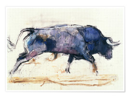 Premium poster  Charging bull - Mark Adlington