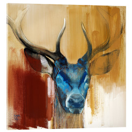 Acrylic glass  Head of a deer - Mark Adlington