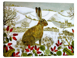 Vanessa Bowman - Seated Hare in Snow