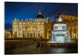 Acrylic print  Fountain at the St. Peters square Roma - FineArt Panorama