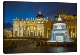 Canvas print  Fountain at the St. Peters square Roma - FineArt Panorama
