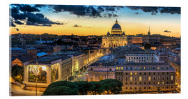 Acrylic glass  Roma St. Peters dome - Fine Art Images