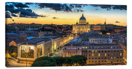 Canvas  Roma St. Peters dome - Fine Art Images