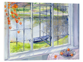 Foam board print  View of the boat - Timothy Easton