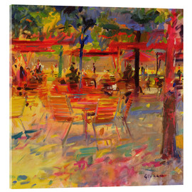Acrylic glass  Lunch on the Terrace - Peter Graham