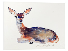 Foam board print  Lying deer - Mark Adlington