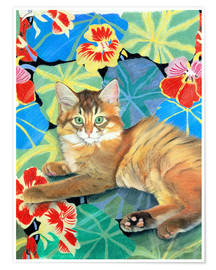 Premium poster  Sootsy on the Dufy fabric - Anne Robinson