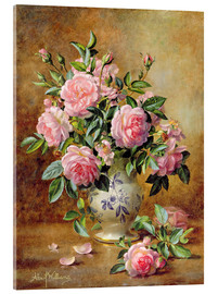 Acrylic glass  A Medley of Pink Roses - Albert Williams