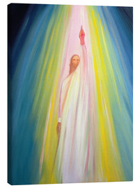 Canvas  Jesus Christ points us to God the Father, 1995 - Elizabeth Wang