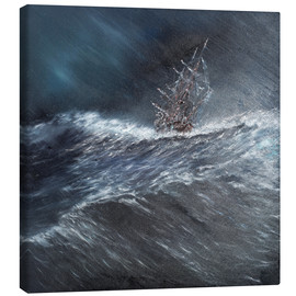 Canvas print  HMS Beagle in a storm at Cape Horn, 1832 - Vincent Alexander Booth