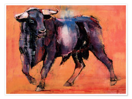 Poster  Black bull - Mark Adlington